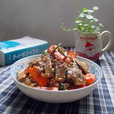 红萝卜炒猪肝