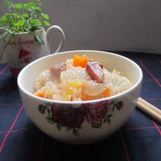 腊肉土豆糯米饭