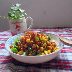 玉米青椒火腿肠