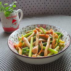 蒜苔炒海鲜菇