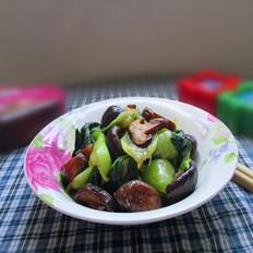 香菇炒上海青
