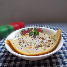玉米豆渣鸡蛋饼