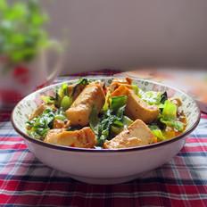 生菜炒豆腐