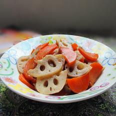 胡萝卜炒莲藕