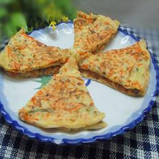萝卜香菇鸡蛋饼
