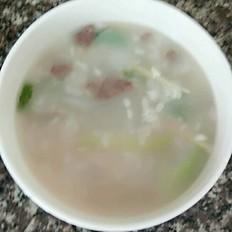 牛肉菜心粥