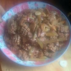 猪腰炒泡椒酸菜