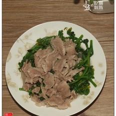 猪肉炒菜心:学生时代的最爱