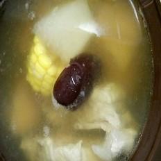 白罗卜玉米排骨汤