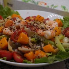 藜麦芒果虾仁轻食沙拉的做法
