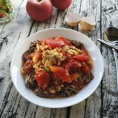 #试做网红美食#番茄鸡蛋荞麦凉面