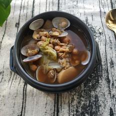 低卡低脂|韩式白菜蛤蜊大酱汤