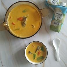 不加一滴水の泰式椰香咖喱鱼