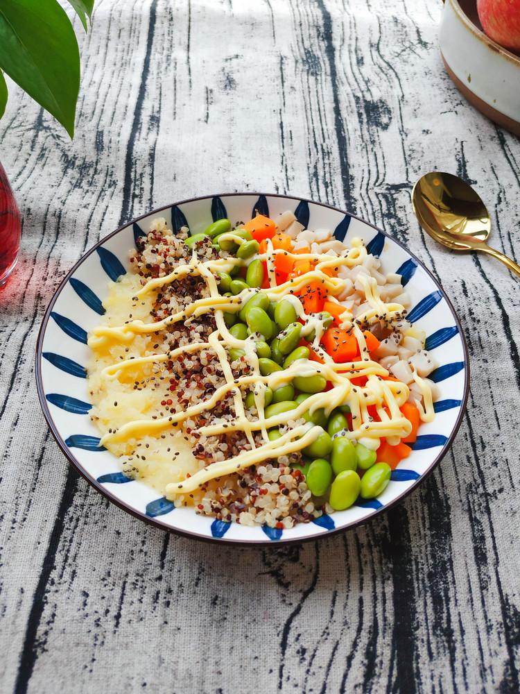 土豆沙拉彩虹能量碗