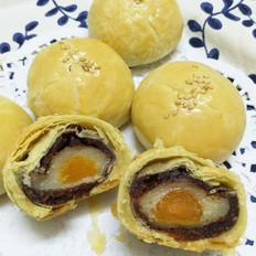 麻薯豆沙蛋黄酥