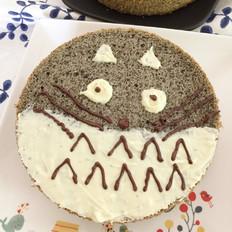 黑芝麻龙猫蛋糕