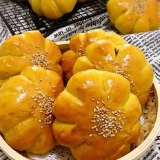 南瓜豆沙面包