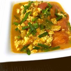 炒韭菜西红柿鸡蛋