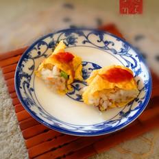 葱香火腿蛋包饭