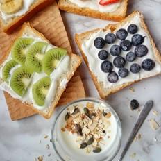 早餐水果吐司