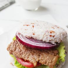 牛肉米汉堡