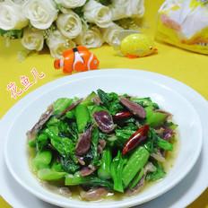 鸭胗炒菜芯