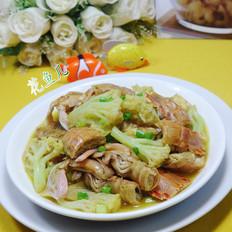 咖喱虾蛄花菜