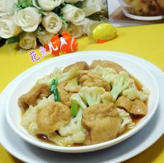 油豆腐炒花菜
