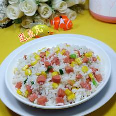 玉米粒火腿肠炒饭