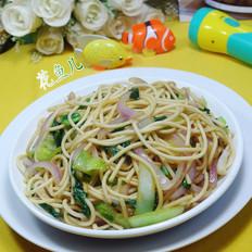 洋葱青菜素炒面