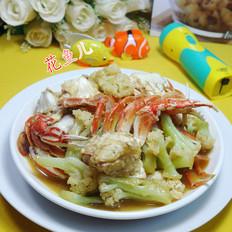 花菜炒花蟹
