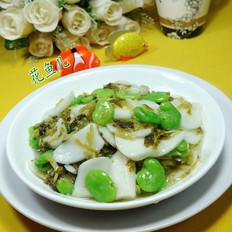 雪菜蚕豆炒年糕