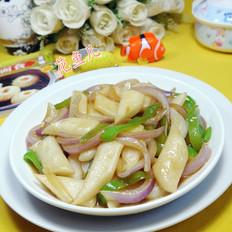 尖椒洋葱炒年糕