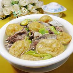 油面筋蚕豆肉骨汤