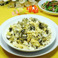 雪菜鸡蛋炒老豆腐