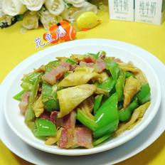 笋尖五花风肉炒尖椒