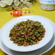 猪肉末炒酸带豆