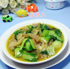 咖喱牛筋炒青菜