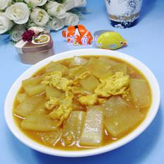 咖喱鸡蛋炒冬瓜