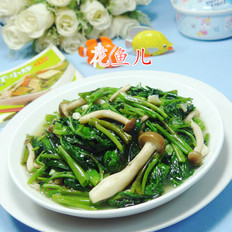 蟹味菇炒空心菜