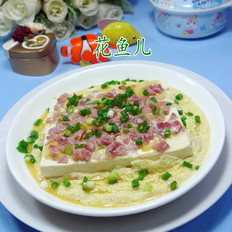 培根鸡蛋蒸豆腐