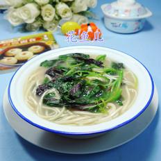 浓汤宝红苋菜荞麦面