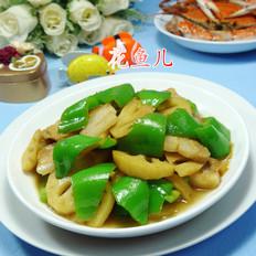 尖椒五花肉炒莲藕