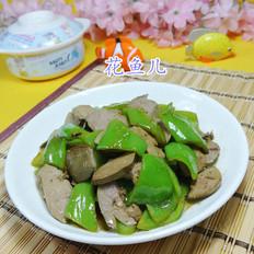 尖椒炒鸭肝