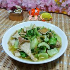 榨菜丝猪肚菇炒青菜
