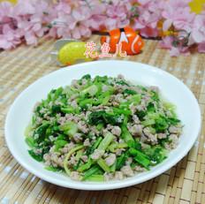 猪肉末炒芹菜