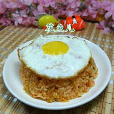 鸡蛋泡菜炒饭