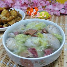 精火腿圆白菜芋艿子汤