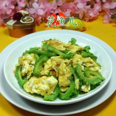 苦瓜炒虾皮鸡蛋
