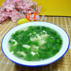 蒿菜豆腐羹